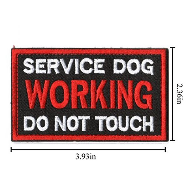 WZT Airsoft Morale Patch 5 WZT 6 Pieces Service Dog Working Do Not Touch Military Tactical Morale Badge Hook & Loop Fastener Patch