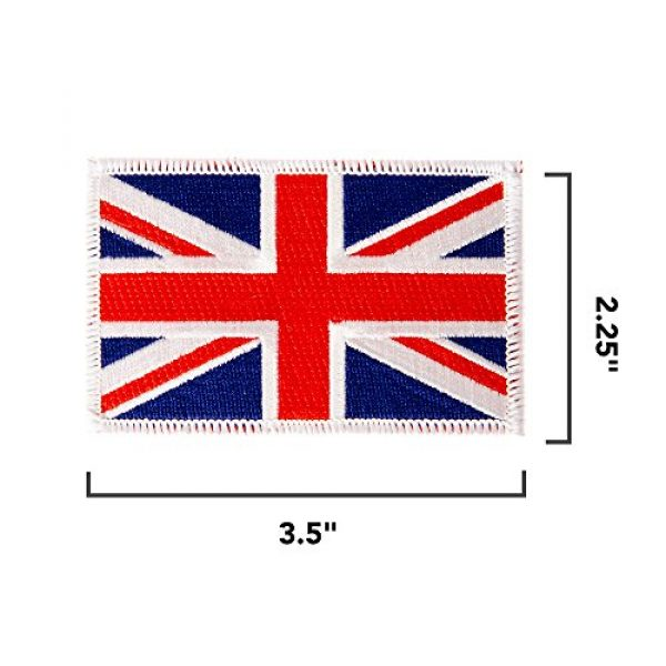 Desert Cactus Airsoft Morale Patch 2 United Kingdom UK Flag Patch Bulk 3-Pack 3.5Wx2.25H State Iron On Sew Embroidered Tactical Morale Back Pack Hat Bags Great Britain (3-Pack Patch)