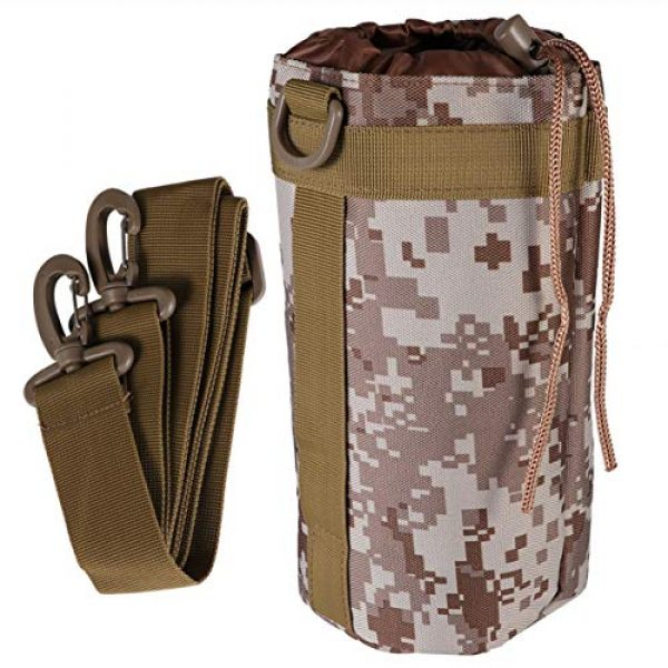 BESPORTBLE Tactical Pouch 1 BESPORTBLE Molle Water Bottle Bag Military Kettle Holder Hydration Carrier Crossbody Pouch Pocket for Camping Climbing Cycling Hiking Travelling Black