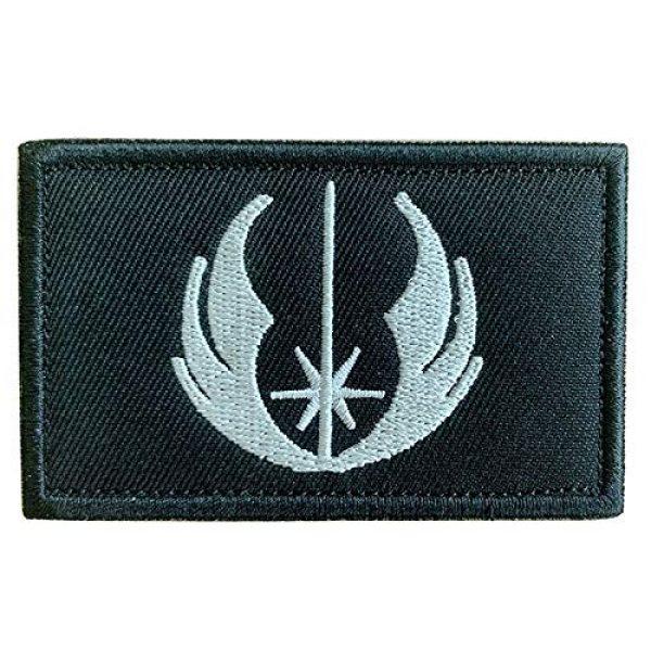 "Antrix Airsoft Morale Patch 1 Antrix Tactical Movie Film Jedi Order Galactic Republic Morale Patch Hook and Loop Fastener Jedi Order Military Applique Emblem Patch -3.15""x2"""