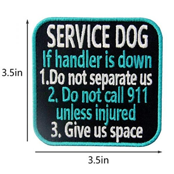 TailWag Planet Airsoft Morale Patch 5 Service Dog Medical Not All Disabilities are Visible Alert Vest/Harnesses Tactical Morale Patch Embroidered Badge Fastener Hook & Loop Emblem, 6 Pcs, Blue
