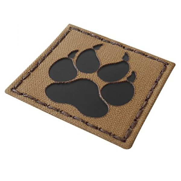 Tactical Freaky Airsoft Morale Patch 3 Coyote Brown Tan Infrared IR K9 Dog Handler Paw K-9 2x2 Tactical Morale Touch Fastener Patch