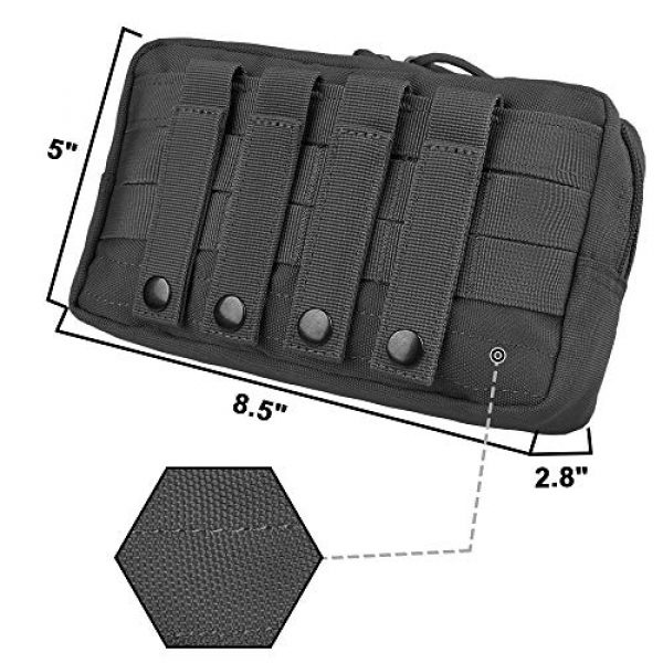 AMYIPO Tactical Pouch 3 AMYIPO Equipment Multi-Purpose Tactical Molle Admin Pouch EDC Utility Tools Bag Utility Pouches Molle Attachment Military Modular Attachment Small Pouch