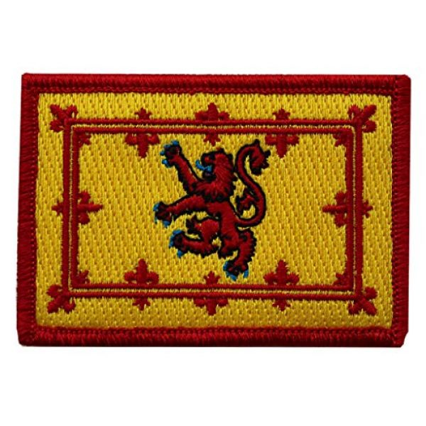 """Gadsden and Culpeper Airsoft Morale Patch 1 Lion Rampant of Scotland Flag Tactical Morale Patch - 2""""x3"""""""