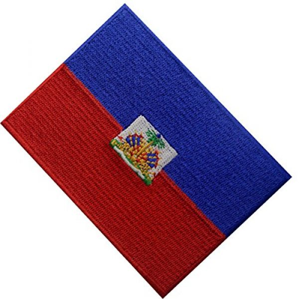 EmbTao Airsoft Morale Patch 4 Haiti Flag Embroidered Patch Haitian Iron On Sew On National Emblem