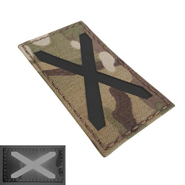 Tactical Freaky Airsoft Morale Patch 3 Multicam Infrared IR Alabama Flag Scotland 3.5x2 IFF Tactical Morale Fastener Patch