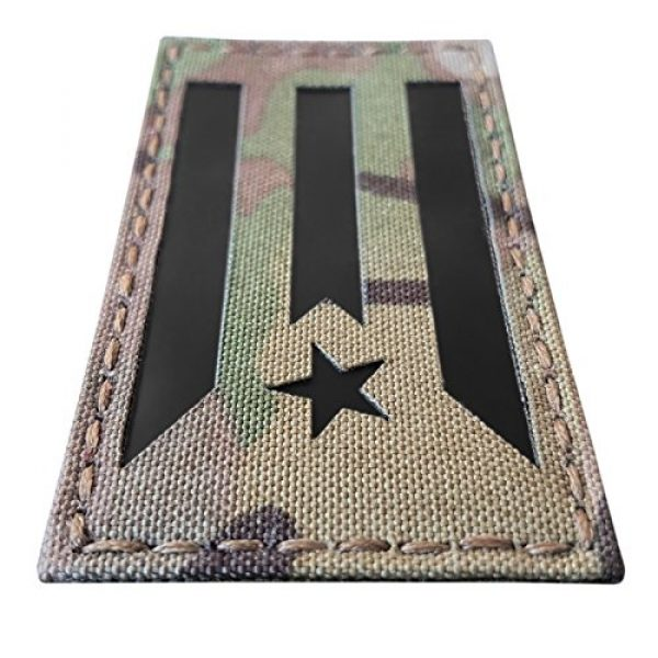 Tactical Freaky Airsoft Morale Patch 3 Multicam Infrared IR Puerto Rico Cuba Flag 3.5x2 IFF Tactical Morale Fastener Patch