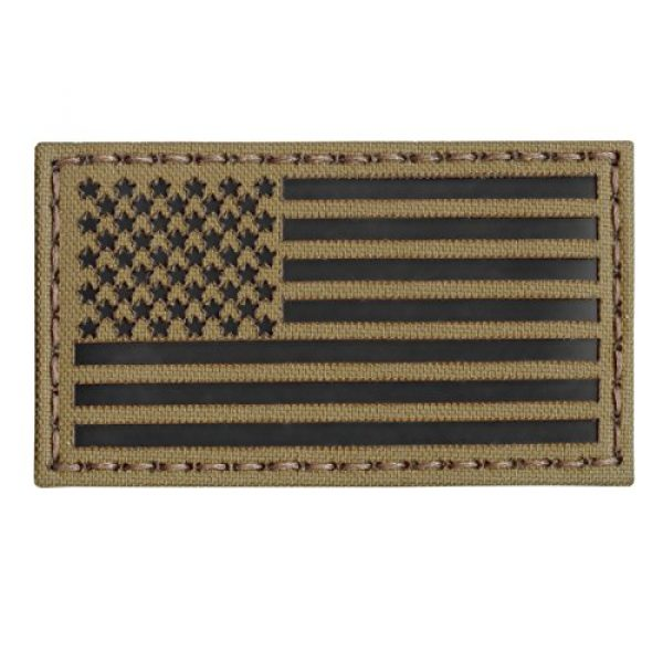 Tactical Freaky Airsoft Morale Patch 6 Coyote Brown Tan Infrared IR USA American Flag 3.5x2 IFF Tactical Morale Touch Fastener Patch