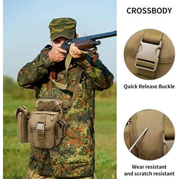 ACOMOO Tactical Pouch 5 ACOMOO Tactical Drop Leg Waist Bag Mens Outdoor Sport Thigh Hip Pack Utility Pouch Brown