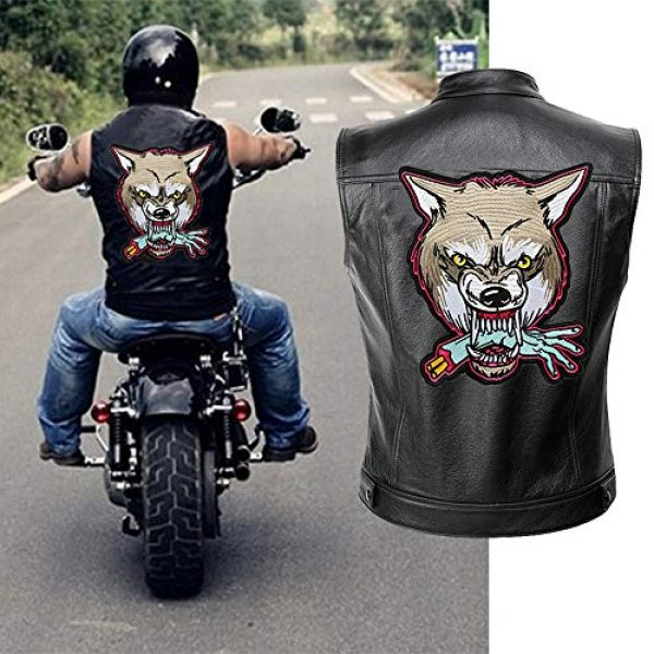TOOBIT Airsoft Morale Patch 1 12.4'' Wolf Patch Large Motorcycle Backpack Patches Punk Rocker Rider Motorcycle Biker Back Patches Jacket Patches Applique Iron on/Sew on Embroidered Iron On Patch for Jackets | (Wolf)