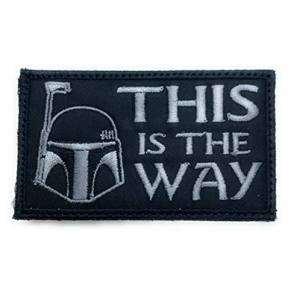 Almost SGT Airsoft Morale Patch 1 This is The Way Boba Fett Helmet Star Wars - Funny Tactical Military Morale Embroidered Patch Hook Backing
