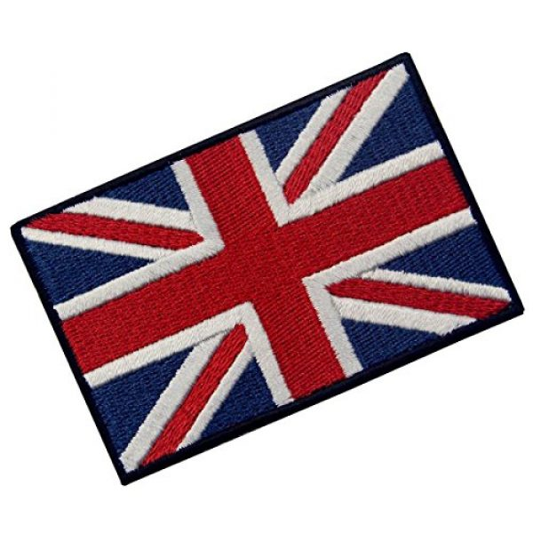 EmbTao Airsoft Morale Patch 3 EmbTao Patches British Union Jack Embroidered England Flag UK Great Britain Hook & Loop Emblem