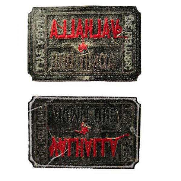 Homiego Airsoft Morale Patch 3 Homiego Ticket to Valhalla Admit One Die Historic Live Again Tactical Morale Badge Embroidery Iron on Patch (1Black+1White)