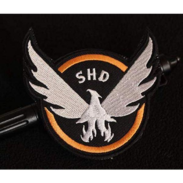 Embroidered Patch Airsoft Morale Patch 1 The Division Agent SHD 3D Tactical Patch Military Embroidered Morale Tags Badge Embroidered Patch DIY Applique Shoulder Patch Embroidery Gift Patch