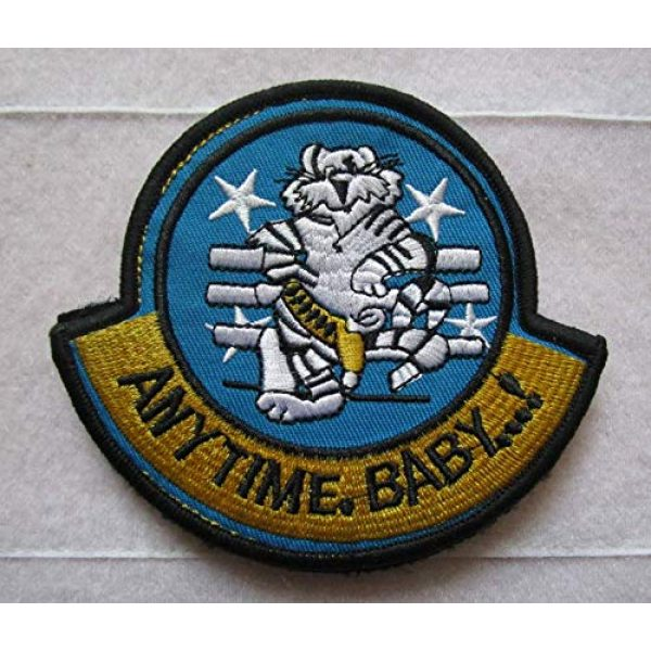 Embroidered Patch Airsoft Morale Patch 1 F-14 Tomcat Anytime Baby 3D Tactical Patch Military Embroidered Morale Tags Badge Embroidered Patch DIY Applique Shoulder Patch Embroidery Gift Patch