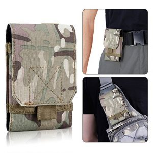 BIENNA Tactical Pouch 1 BIENNA Tactical Pouch, Small Military Bag Molle Gear [Waterproof] Nylon EDC Utility Gadget Zipper Waist Bag Pack with Phone Holster Pocket Cover Case for Vest & iPhone 7 6 6s 5 5s Galaxy S7 S6 S5
