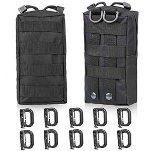 GOHIKING Tactical Pouch 2 GOHIKING Molle Pouch 2 Packs Tactical Compact,EDC Utility Gadget Waist Bag with 10 Pack Multipurpose D-Ring Grimloc Locking Hook