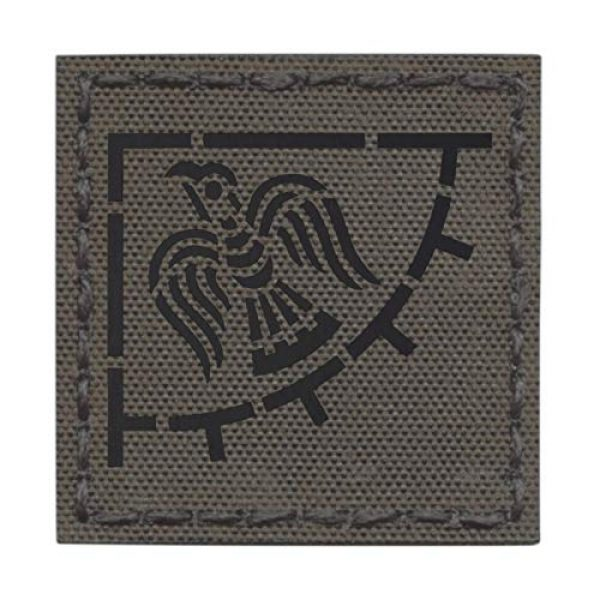 Tactical Freaky Airsoft Morale Patch 1 Ranger Green IR Raven Banner Viking 3x3 Norse Icelandic Heathen Infrared IFF Tactical Morale Fastener Patch
