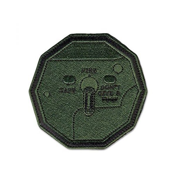 BASTION Airsoft Morale Patch 1 BASTION Morale Patches (Don't Give F Switch, ODG) | 3D Embroidered Patches with Hook & Loop Fastener Backing | Well-Made Clean Stitching | Military Patches for Tactical Bag, Hats & Vest