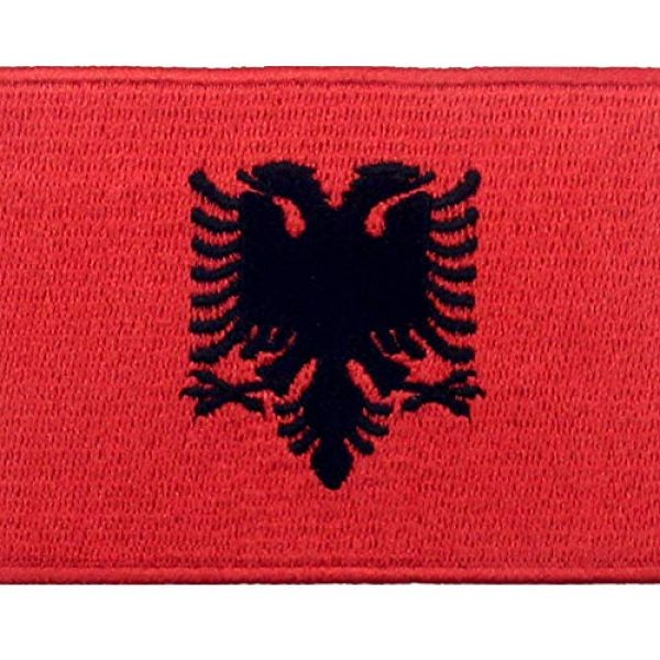 EmbTao Airsoft Morale Patch 2 EmbTao Albania Flag Patch Embroidered National Morale Applique Iron On Sew On Albanian Emblem