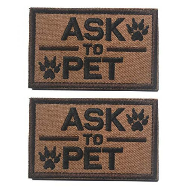 GrayCell Airsoft Morale Patch 1 2 Pack Homiego Ask to Pet Embroidered Tactical Morale Patch Badge for Dog Harness & Vest