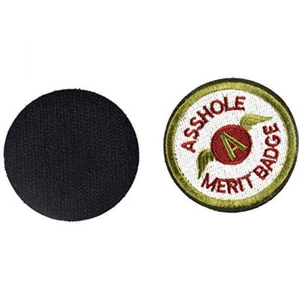 J.CARP Airsoft Morale Patch 2 2 Pieces Asshole Merit Badge Morale Patch, Funny Tactical Military Morale Patch Hook & Loop, Green