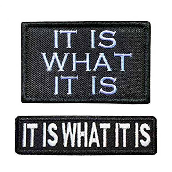 Antrix Airsoft Morale Patch 1 Antrix 2 Pcs Funny It is What It is Tactical Military Embroidered Uniform Emblem Applique Patch Hook and Loop Badge Emblem Patch for Backpacks Caps Hats Vests Bags