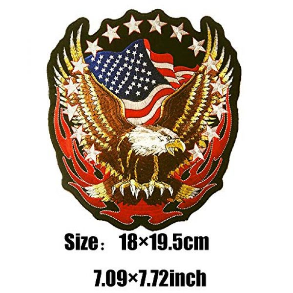 """TOOBIT Airsoft Morale Patch 5 Bald Eagle Patch Motorcycle Patch-7.7""""Patriotic USA Flag Eagle Jacket Embroidered Patch Iron On Patch Applique Clothes Jeans Sewing Flowers Applique"""