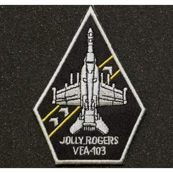 Embroidered Patch Airsoft Morale Patch 1 VFA-103 Coffin Jolly Rogers F/A 18 F Super Hornet 3D Tactical Patch Military Embroidered Morale Tags Badge Embroidered Patch DIY Applique Shoulder Patch Embroidery Gift Patch