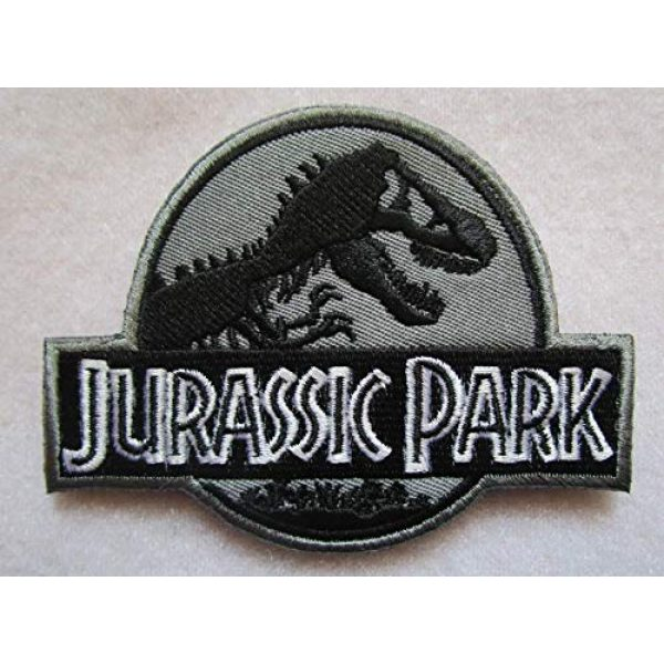 Embroidered Patch Airsoft Morale Patch 1 Jurassic Park 3D Tactical Patch Military Embroidered Morale Tags Badge Embroidered Patch DIY Applique Shoulder Patch Embroidery Gift Patch
