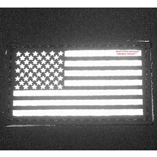 LEGEEON Airsoft Morale Patch 3 Bundle Set of 2 ACU Infrared IR USA American Flags Forward And Reversed 3.5x2 Laser Cut Morale Fastener Patches