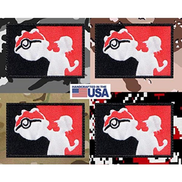 Tactical Patch Works Airsoft Morale Patch 4 Ash Pikachu Pokemon League Inspired Art Patch