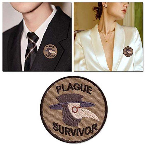 Esissenils Airsoft Morale Patch 7 Plague Survivor Geek Merit Badge Patch, 3PCS Patch Survivor Tactical Morale Embroidery Badge Hook and Loop Fastern Patches