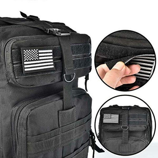 ASA Techmed Airsoft Morale Patch 4 ASA Techmed 4 Pack Black and White US USA Flag Embroidered Patch Military Iron On Sew On Tactical Morale Patch for Hats Backpacks Caps Jackets + More