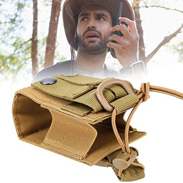 Hoseten Tactical Pouch 5 Durable Radio Holder, Radio Case, Portable Cosplay Tool Camping Bag for Outdoor Sports