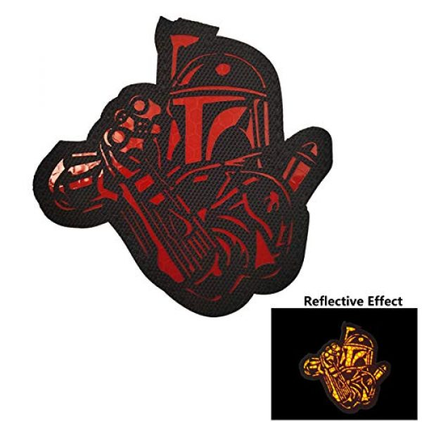APBVIHL Airsoft Morale Patch 5 4 Pack Infrared IR Reflective Star Wars Mandalorian This is The Way Full Helmet Patch - Fastener Hook and Loop Backing Tactical Military Morale Appliques Emblem Badges