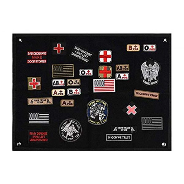 Acbell Airsoft Morale Patch 1 Tactical Morale Velcro Patch Holder-Military Patch Fabric Display Board Used for Collection Storage Show Various Armband Army Velcro 23.62 inch x 17.72 inch