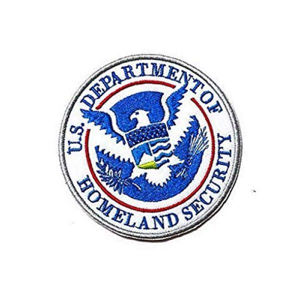 Embroidery Patch Airsoft Morale Patch 2 Department of Homeland Security Military Hook Loop Tactics Morale Embroidered Patch