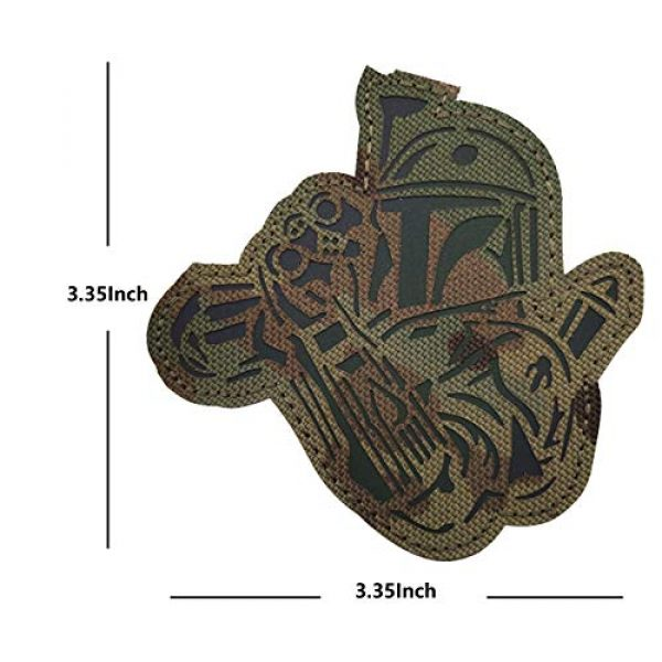 APBVIHL Airsoft Morale Patch 7 4 Pack Infrared IR Reflective Star Wars Mandalorian This is The Way Full Helmet Patch - Fastener Hook and Loop Backing Tactical Military Morale Appliques Emblem Badges