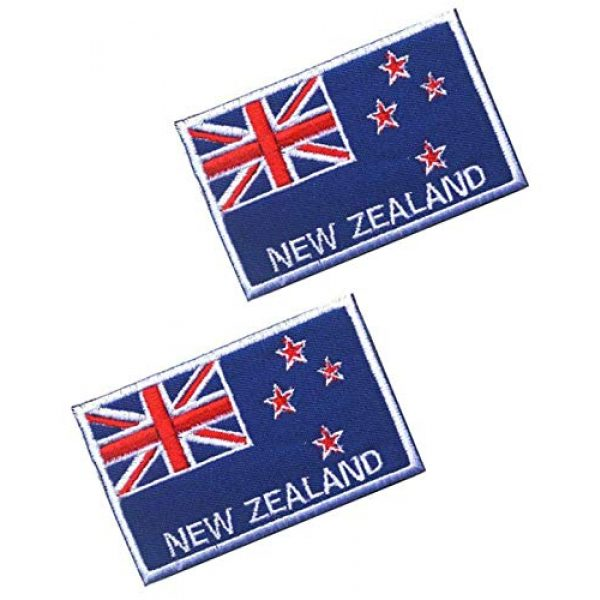 Tactical Embroidery Patch Airsoft Morale Patch 1 2pcs New Zealand Flag Embroidery Patch Military Tactical Morale Patch Badges Emblem Applique Hook Patches for Clothes Backpack Accessories