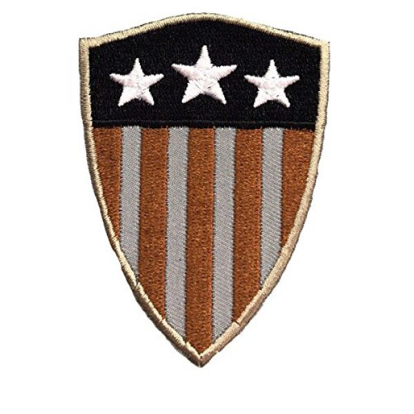 PakedDeals Airsoft Morale Patch 1 PakedDeals Captain America Shield America USA Stars and Stripes Morale Patch Police Law Enforcement Military Army Marines Navy Air Force Hook & Loop Backing