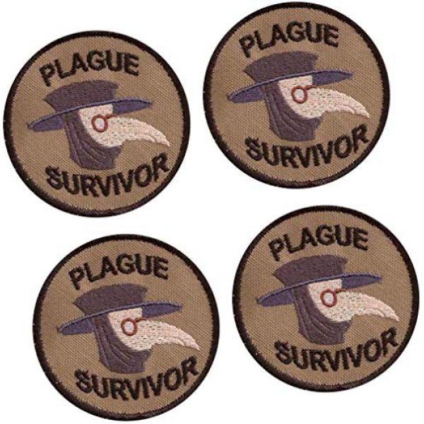 GMYQ Airsoft Morale Patch 1 Plague Survivor Geek Merit Badge Patch, Embroidered Morale Patch