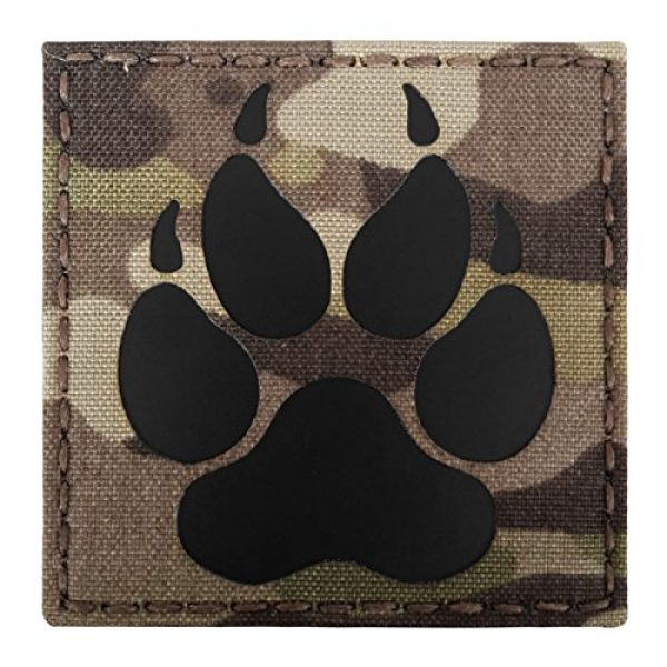 Tactical Freaky Airsoft Morale Patch 2 Multicam Infrared IR K9 Dog Handler Paw K-9 3x3 Tactical Morale Hook-and-Loop Patch
