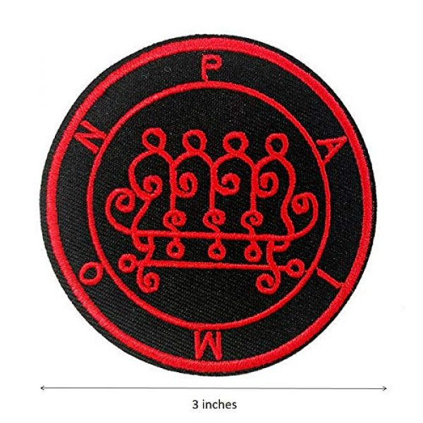 Cute-Patch Airsoft Morale Patch 2 Seal of Paimon Sigil Talisman Demon Circle Embroidered Iron On Sew On Patch