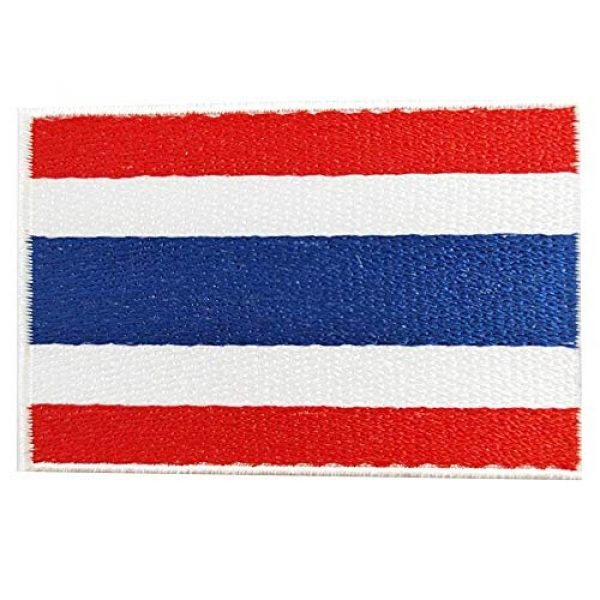 Heavens Tvcz Airsoft Morale Patch 1 Heavens Tvcz Flag Embroidered for Men Teens Women Charms Morale Patch with Hook and Loop Travel Thai Patriotic Scrapbook MC Biker Motorcycle Jeans Women Shoulder White Border Emblem