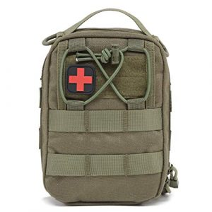 Azarxis Tactical Pouch 1 Azarxis First Aid Pouch, Tactical MOLLE Rip-Away EMT 1000D Nylon Medical IFAK Utility Bag Emergency Survival Gear for Hiking Camping Trekking Hunting Outdoor Activities
