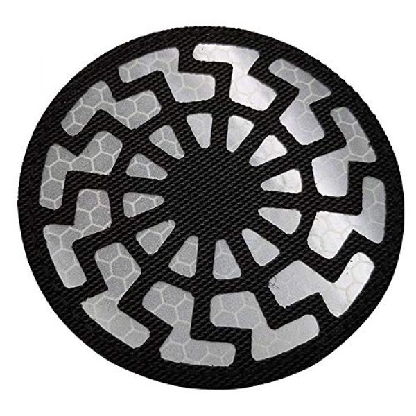 APBVIHL Airsoft Morale Patch 5 Reflective Infrared IR Black Sun Patch Stickers Chemical Resident Evil Military Morale Decorative Patches Emblem Badges Tactical Appliques with Hook and Loop Fastener Backing
