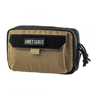 OneTigris Tactical Pouch 1 OneTigris Horizontal EDC Pouch Utility MOLLE Tool Bag Organizer with Phone Pocket & Patch Panel