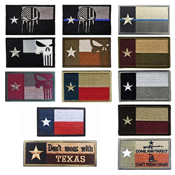 June Sports Airsoft Morale Patch 5 Texas State Flag Embroidered Patch Sew-On TX Lone Star Emblem ABG77