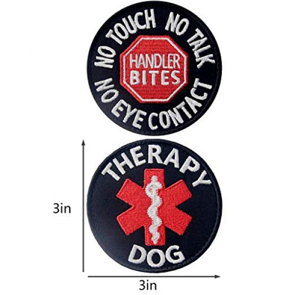 TailWag Planet Airsoft Morale Patch 3 Service Dog EMS Working Do Not Pet Distract Handler Bite Therapy Medic Paramedic Star Vest/Harnesses Tactical Morale Patch Embroidered Badge Fastener Hook & Loop Emblem, 6 Pcs